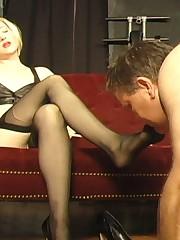Grateful foot slave
