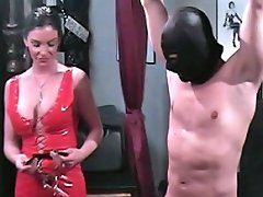 Hung stud is humiliated and manhandled by a bitche`s strong feet