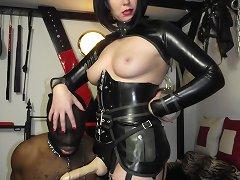 Strapon mistress humiliated boy