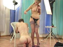 Photo session in a femdom style