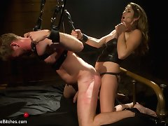 All-American beautiful boi finds himself beast training the foot of a domme with nowhere to hide. CBT, flogging, hardcore strap-on fucking galore