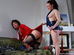 Red hawt sissy training