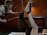 Lilla's put in bondage, caned, spanked, endures painful clamps