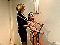 Heavy lesbian punishment by warden Maitresse Madeline