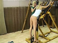 Sexy blonde was paddled