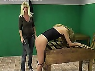 Bad bitch was punished by paddle