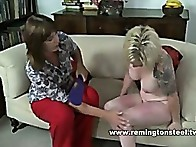 Sarah face is slapped, her legs are paddled