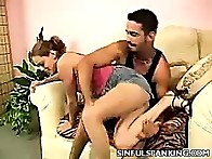 Amanda jealous husband Paul is waiting for her at home