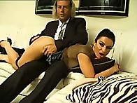 Brunette floozy was punished