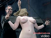 Teacher humiliated and degraded in extreme bondage.