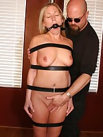 Pretty girl bound, bent over, beaten and fucked by boss