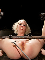 Slave Cherry gets chained up and caned