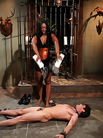 The black goddess trampled and pumped malesub