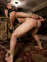 Slaveboy is bound and caned, endures intensive CBT from Mistress