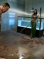 Water torture time for male submissive