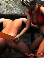Modern femdom fantasies rendered in realistic 3D art