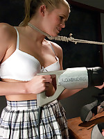 Classroom MILF seduction: despondent India Summers fucks her teaching assistant here machines so everlasting it takes their appearance widely &..
