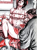 Harsh bondage and other creative torments for hentai beauties