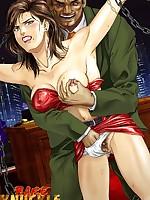 Hentai girls with brig tits endure extreme bondage