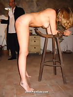 Blonde baby punished