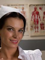 Naughty nurse sexually exploits pretty patient
