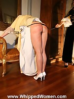 Medieval maid spanked by haughty queen