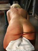 Harsh ass and back whipping