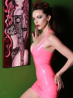 Emily Marilyn fetish model close to formerly larboard latex rubber