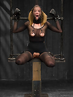 Star is endures pantyhose mummification bondage, latex breath play games, plus cold-blooded orgasm predicaments in nude iron plus constricted..