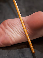 Kristina Rose is caned, made to tarry brutal foot torture, poked to rub-down the point of breaking with apogee denial.