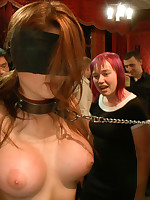 Big tittied newbie is fisted and strap-on drilled for the first length of existence ever. Groped, fucked, and caressed by strangers, double penetrated and humiliated!!