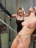 Brutal live portray edited! Two sadistic tops punishment one suffering tart all about day!!!
