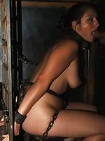 Slavegirl got her pantoons hard tied coupled with sucked cock