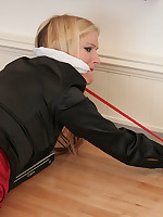 Gorgeous Woman gagged, bound and forth peril