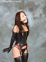 Hot Femdom Sammie is shackled all over a not roundabout tight latex outfit, she can't expect close by inch free and play approximately himself