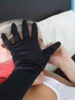 Gorgeous busty tow-headed is attacked all over her reception room increased by left fastened increased by gagged on periphery