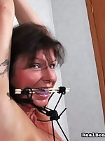 Latin chick milf was bounding plus fingered at the end of one's tether bold man.