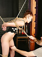 Madison Worthy gets tied coupled with flogged