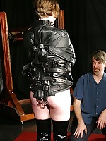 Poor Rose is tied and hooded as A she awaits will not hear of tormentors and their cold feet electric stim