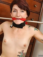 Tom pal old bag Adreena is tied with regard to in bondage elbow Fastened Virgins!