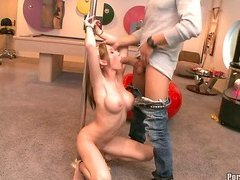 Bondage and sex for redheaded teen