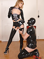 Mistress Aleska Diamond Gets Chained, Ass Jammed And Gaped