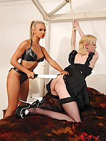Ambit maid receives punished wits tanned dominatrix in bedroom