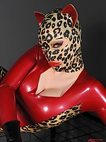 Incredibly cat women Latex Lucy hope a big black blarney