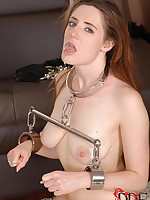 Tied Slavegirl Receives A Drubbing & Screwed By A Frying Couple