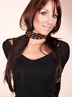 Long haired brunette tied to put emphasize women