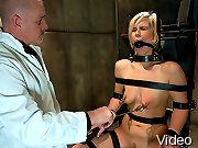 Tara busted for glory hole and gets bound and fucked.