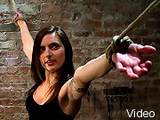 Super cute, super innocent girl, next door gets bound by perverted couple. Bound spread, striped, flogged, fingered and made to cum! Severe bondage!