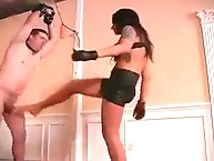 Ballbusting with hot mistress