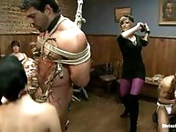 to humiliate, punish a male stripper